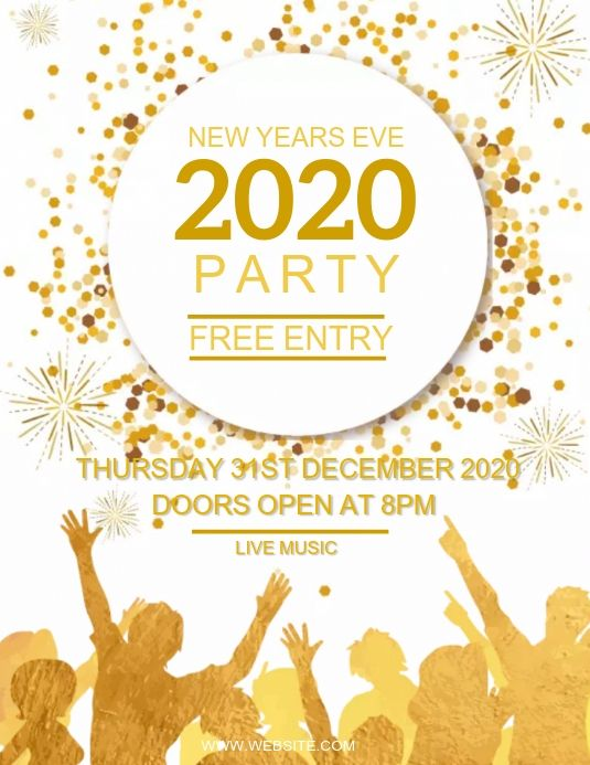 New Years Eve Party Design Template Party Design Flyer Event Flyer Templates