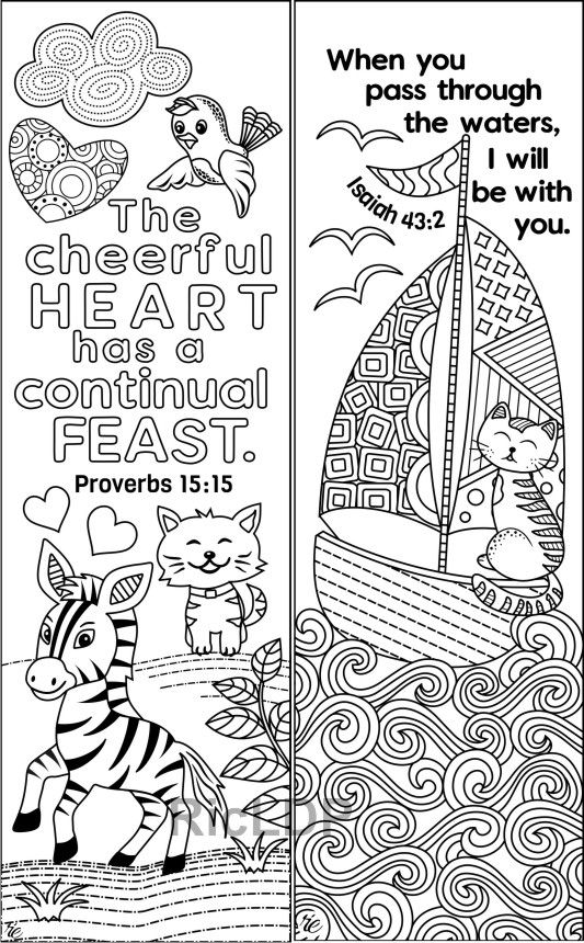 - Set Of 8 Animals & Insects Bible Coloring Bookmarks Cute Etsy In 2020 Bible  Coloring Pages, Coloring Bookmarks, Bible Coloring