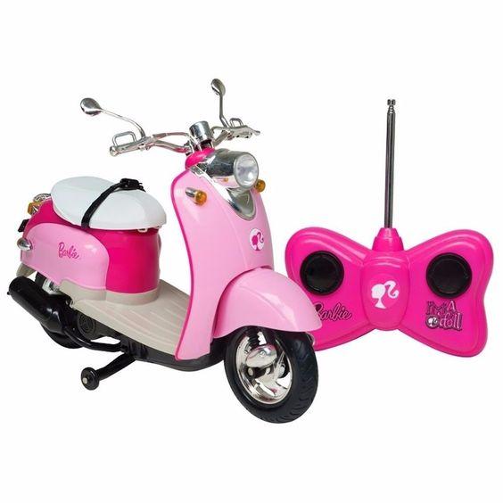 moto glamour da barbie com controle remoto 7 funções candide