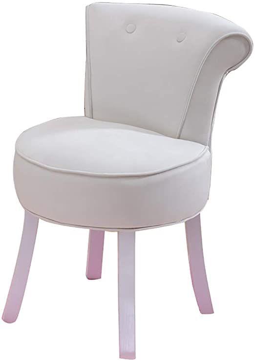 Bedroom Dressing Table Stool Velvet Vanity Makeup Chair Wood Legs Pouffe Padded