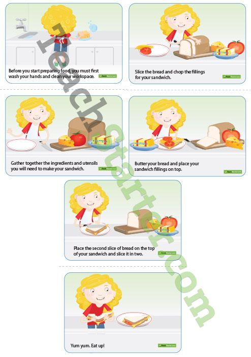 Sandwich Sequencing Activity Cards | Teaching Resources - Teach ...