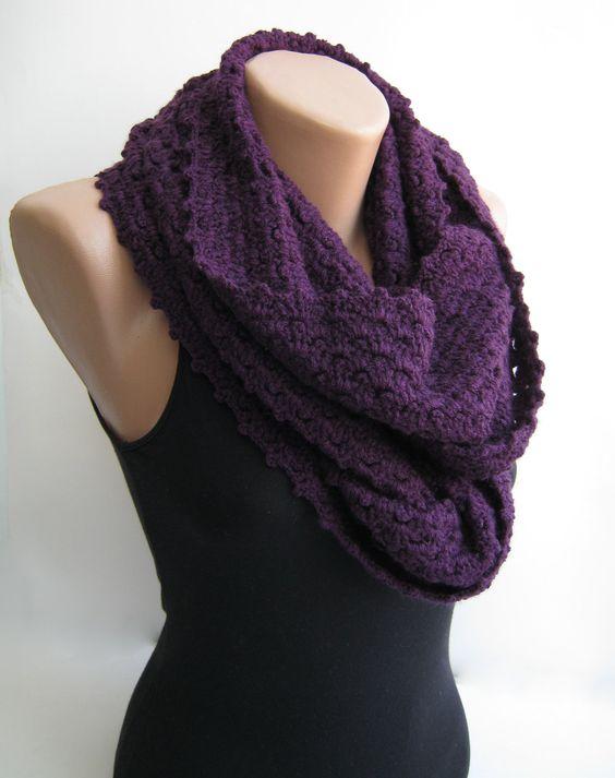 crochet loop infinity scarf crochet crochet cowls infinity scarfs ...
