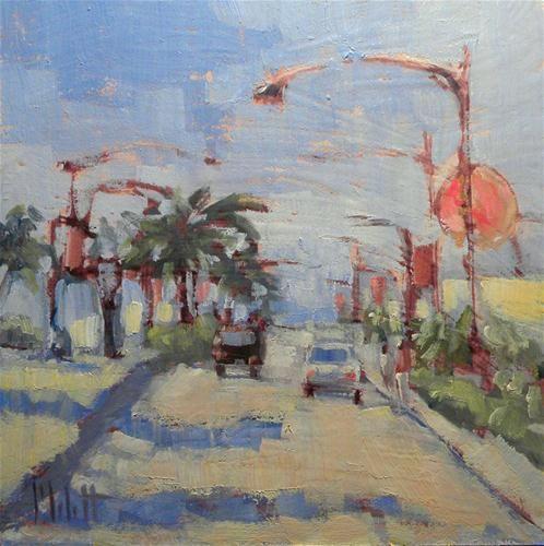 """Donut Shop Near the Beach"" - Original Fine Art for Sale - © Heidi Malott"