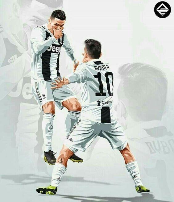 Cristiano Ronaldo And Paulo Dybala Juventus Cristiano Ronaldo Juventus Ronaldo Juventus Ronaldo Football