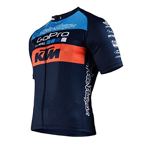Troy Lee Designs Ktm Team Mens Zip Up Bicycle Jersey Navy