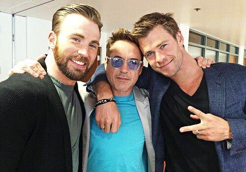Chris Evans, Chris Hemsworth, Robert Downey Jr.