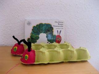 die kleine raupe nimmersatt aus eierkartons diy for kids pinterest. Black Bedroom Furniture Sets. Home Design Ideas