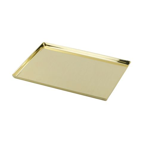 Brass Look Tray Kmart Tray Pink Side Plates White Wash Finish
