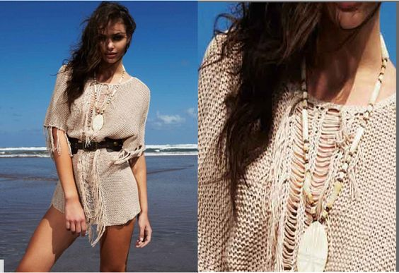 crochelinhasagulhas: Saída de praia de crochê e tricô