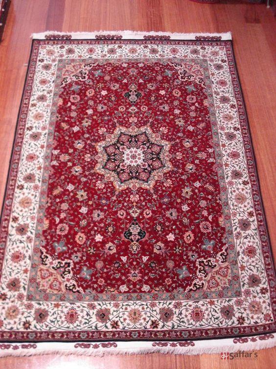 Persian Tabriz (Silk Inlay)   Dimensions:  218cm x 152cm SKU: 2838