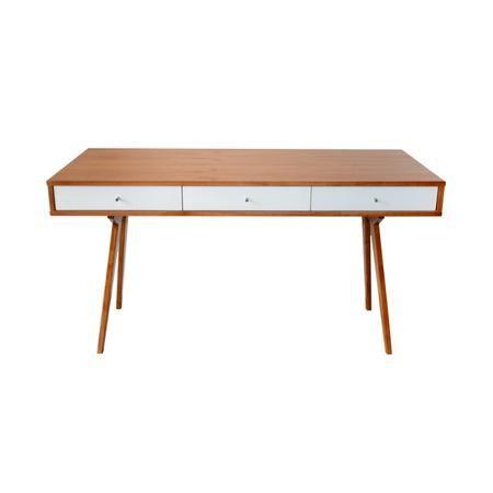 Mesa escritorio moderno madera escritorios pinterest - Mesa escritorio madera ...