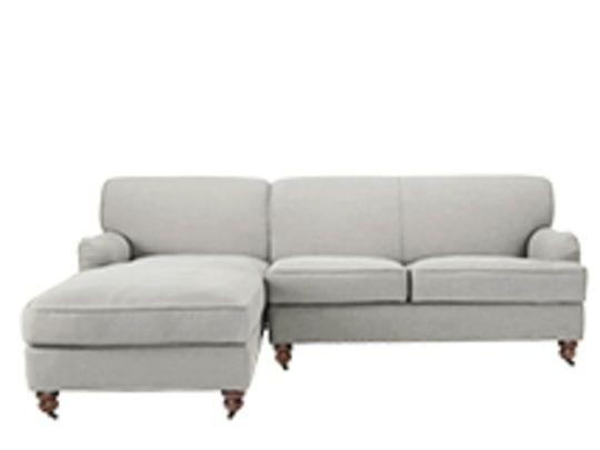 Ariana Left Hand Facing Chaise End Corner Sofa Graphite Grey Sofa Corner Sofa Grey