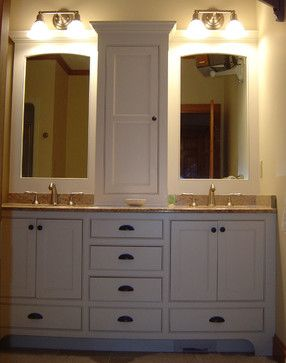 double vanity with center tower. Tower In Center Of Bath Vanity 63 334 Double Sink With  home decor Xshare us
