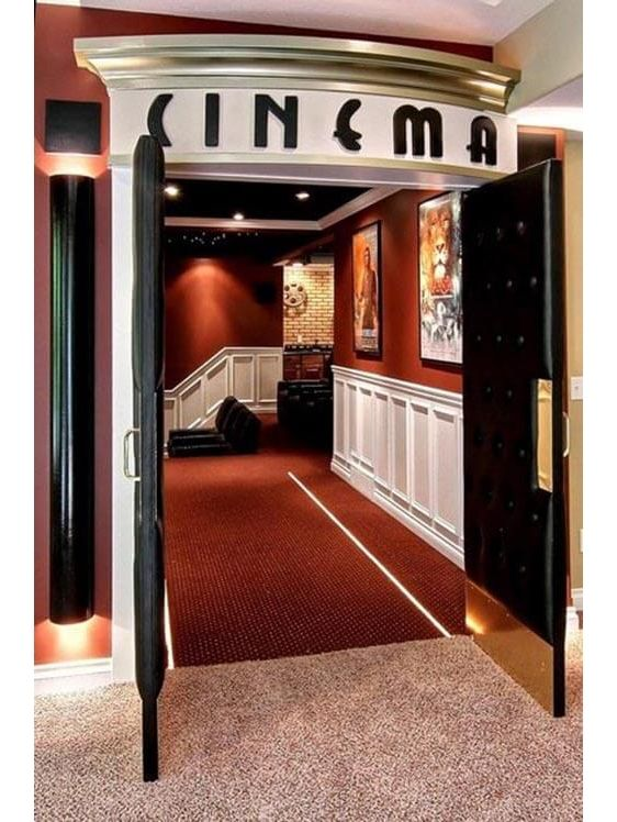 47 Inspiring Theater Room Design Ideas For Home Zyhomy Home Theater Rooms Small Home Theaters Home Theater Seating