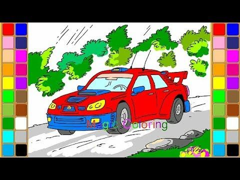 How To Draw A Race Car Coloring Pages For Kids Art Video Race Car Coloring Pages Cars Coloring Pages Art Videos For Kids