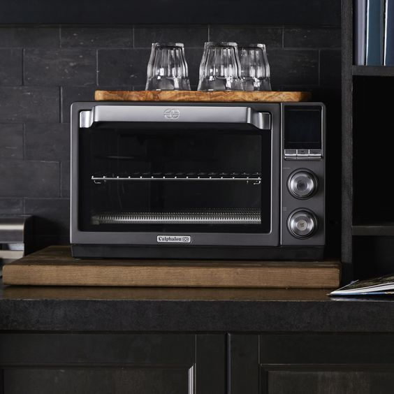 Calphalon Quartz Heat Countertop Oven Dark Stainless Steel Calphalonusastore In 2020 Countertop Oven Beautiful Kitchen Countertops Convection Toaster Oven