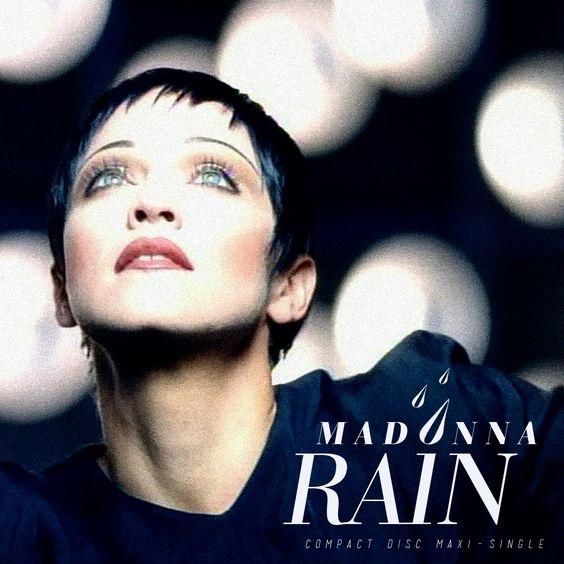 Madonna – Rain (single cover art)