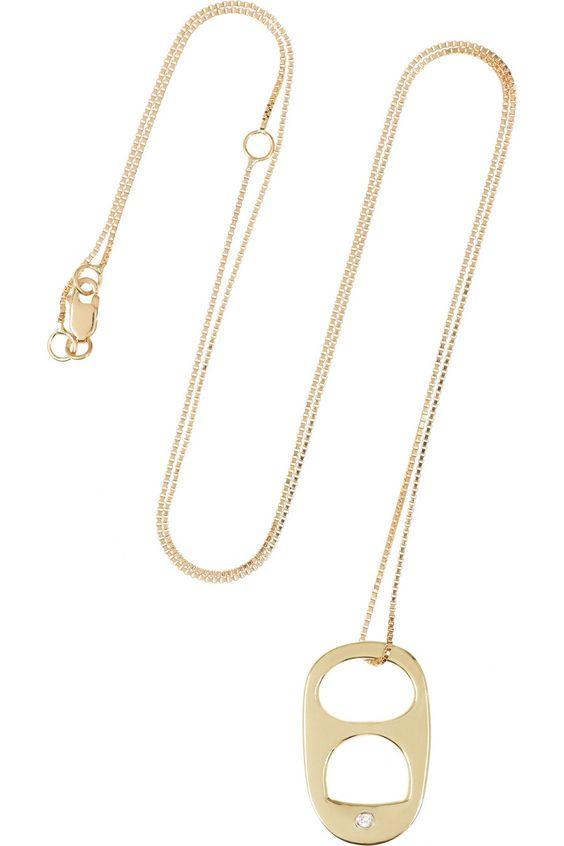 Ana Khouri|Wish 18-karat gold diamond necklace