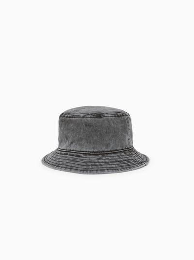 Faded Denim Bucket Hat Verwaschen Mutze Zara