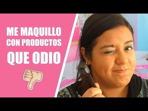 ME MAQUILLO CON PRODUCTOS QUE ODIO   Una Mente de Mujer por Carolina HD - YouTube