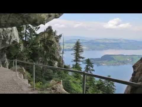 Luzern - Bürgenstock und weiter über den Felsenweg - YouTube