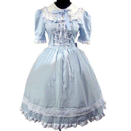 Puff Sleeve Suess Lolita Kleid Rundhals Prinzessin Ballkleid Designer Kleider Fashion Season, http://www.amazon.de/dp/B00IIFF5OK/ref=cm_sw_r_pi_dp_vjfetb1WY8668