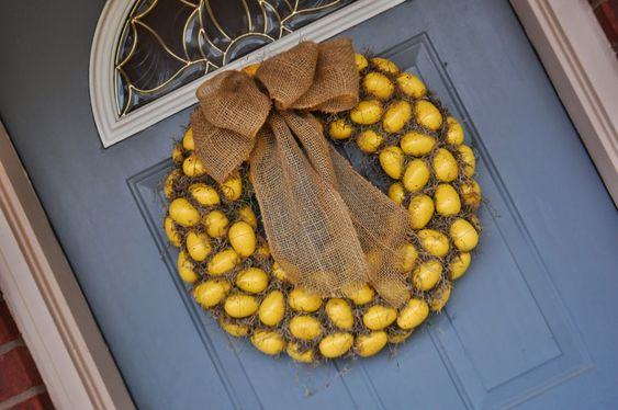 DIY Egg Wreath