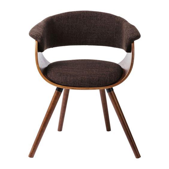 Chaise avec accoudoirs Monaco choco Kare Design | Bar, Cadeira
