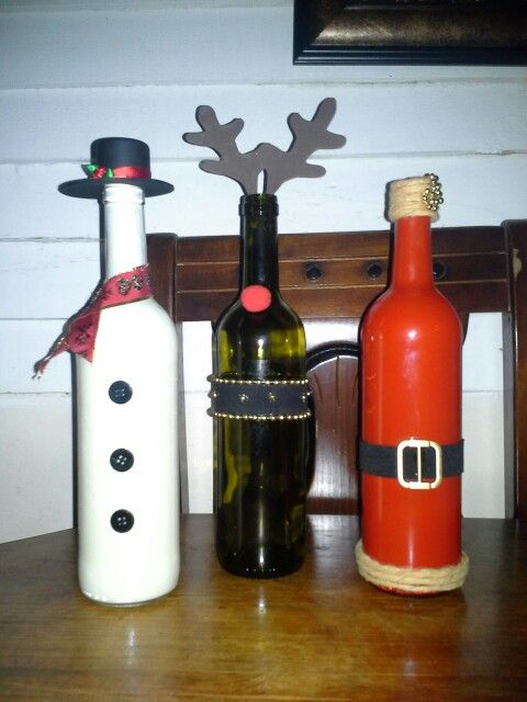 Botellas navidenas