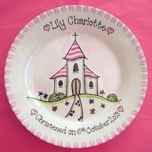 Christening Gifts   Personalised plates   Baptism   Naming Ceremony