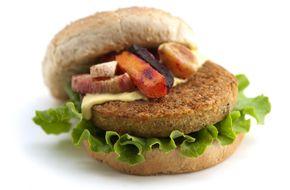 The World's Best Veggie Burger  Hilary's in Lawrence, KS! YUM!