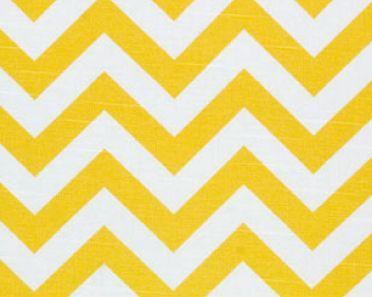 Yellow Chevron Fabric