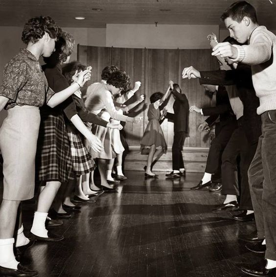 Strollin', c. 1950s.-Though it was my time, I never got to do this at a real dance.