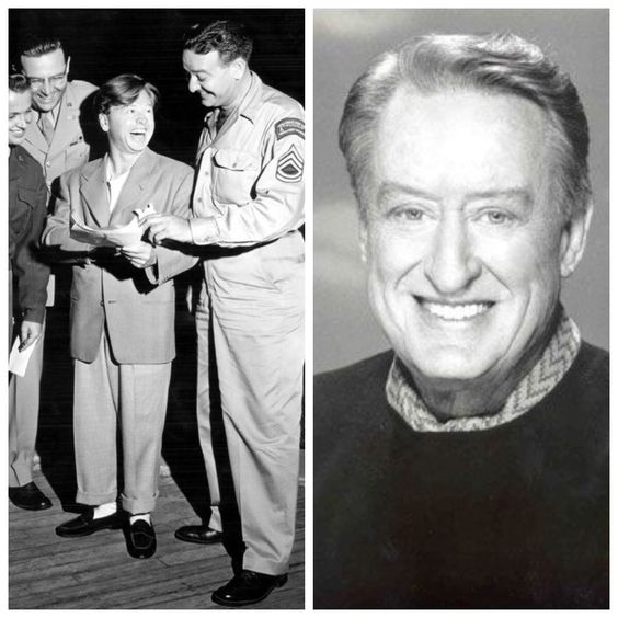 Tom Poston-Army Air Corps-WW2-OCS and became a pilot in European Theatre, dropped troops at Normandy, Captain (Actor/Comedian)