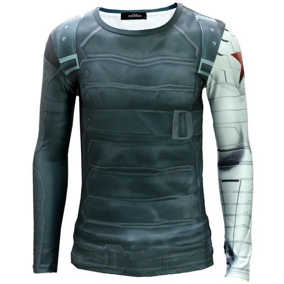 Cool Men Captain America II The Winter Soldier Printing Long Sleeve T- Shirt in Clothes, Shoes & Accessories, Men's Clothing, Activewear   eBay
