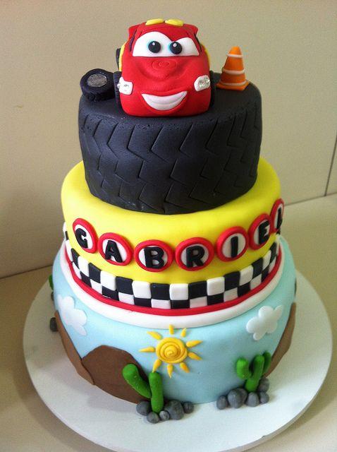Cars Theme Cake Cars Birthday Pinterest Car Cakes