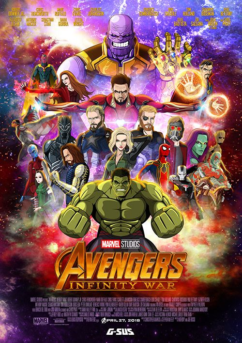 Avengers Infinity War Art Print การ ต น Marvel อเวนเจอร ศ ลปะ