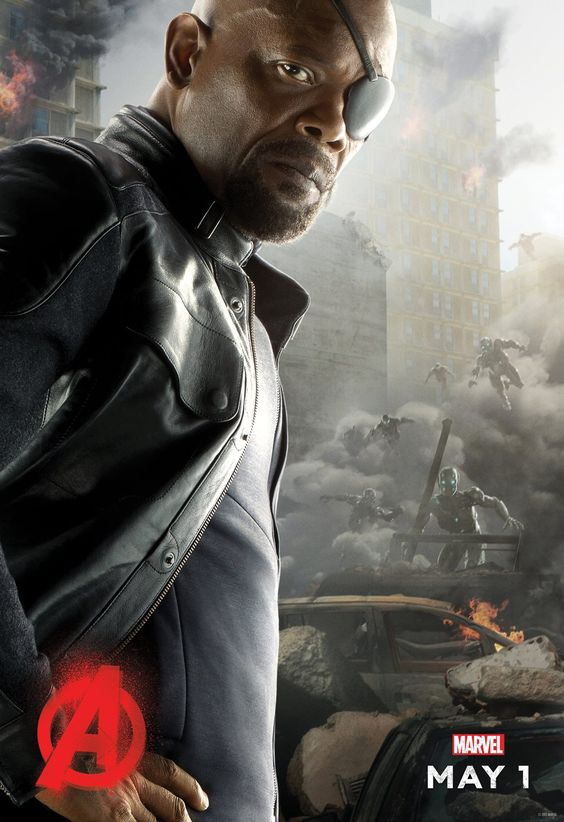 Avengers l'Ere d'Ultron - Nick Fury - Le 22/04/15 à #Kinepolis >> http://kinepolis.fr/films/avengers-lere-dultron?utm_source=pinterest&utm_medium=social&utm_campaign=avengersleredultron#showtimes