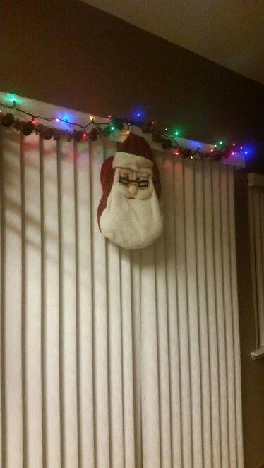 Santa on my window!