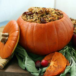 Pumpkin Stuffing. Neat idea.