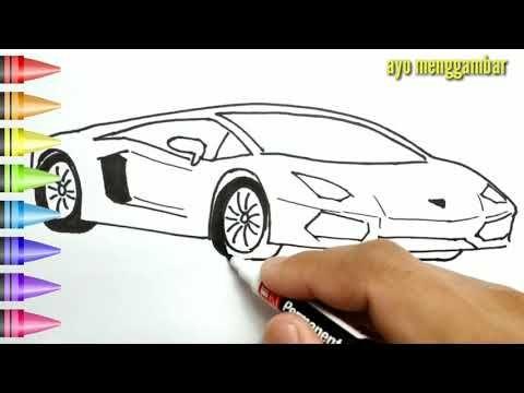 Mudahnya Ayo Belajar Cara Menggambar Mobil Keren Dan Mewarnai Kartun Untuk Anak Anak Indonesia Youtube Gambar Cara Menggambar Kartun