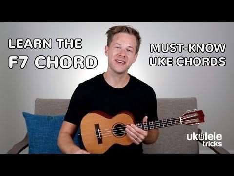 How To Play An F7 Chord On Ukulele Youtube Ukulele Lesson Ukulele Learning Ukulele