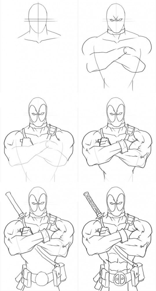 How To Draw Deadpool Figuredrawing Figure Drawing Cartoon Drawing Superheroes Deadpool Drawing Cartoon Drawings