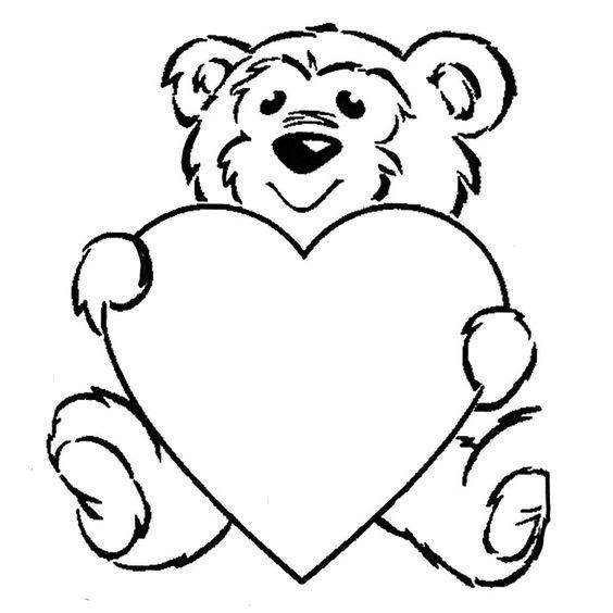 Coloriage Ours Coeur a Imprimer Gratuit