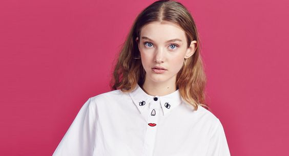 Lazy Oaf Embroidered Face Shirt - View all - NEW IN - Womens