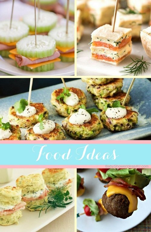 Joint Baby Bridal Shower Food Ideas Baby Shower Food Easy
