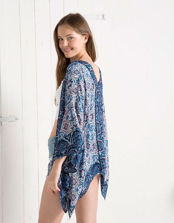 Kimono BSK estampados geométricos