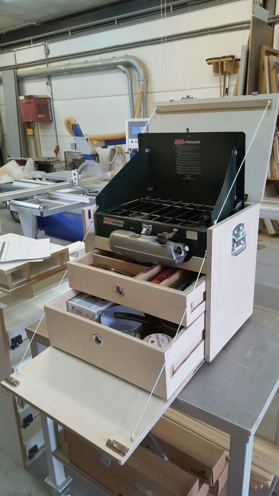 Küchenkisten Bausätze Willi Wood u2014 Neat Boy Scout Patrol Box - k amp uuml chenblock selber bauen