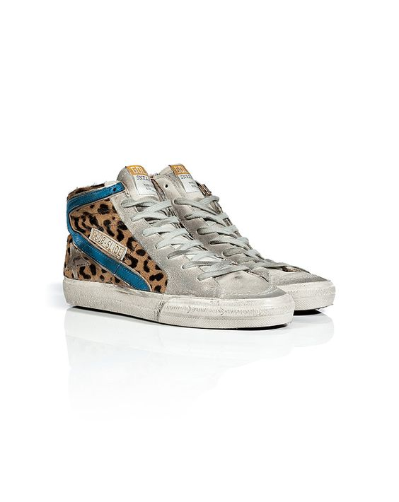 Golden Goose Slide Leopard