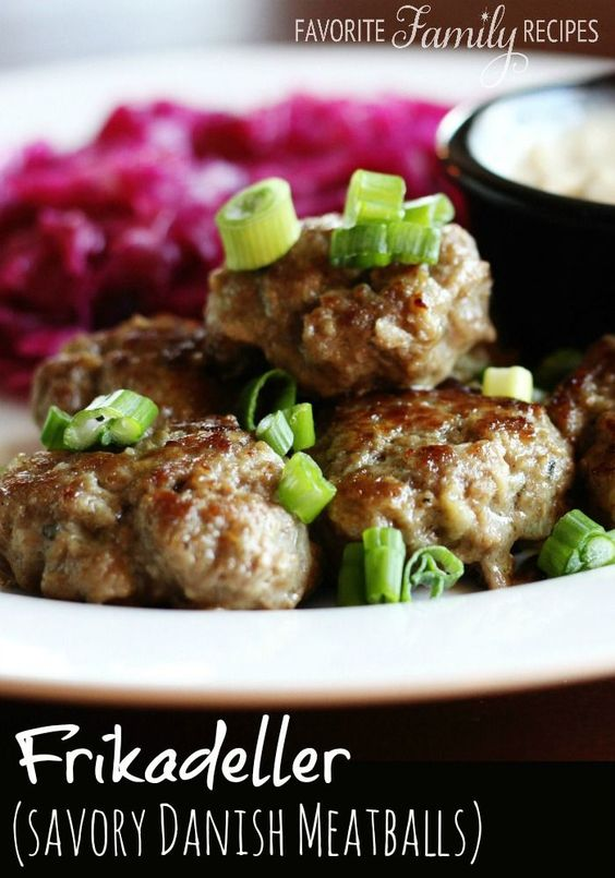 My husband brought back this authentic recipe for Frikadeller (Danish meatballs) from Denmark. They are so good!